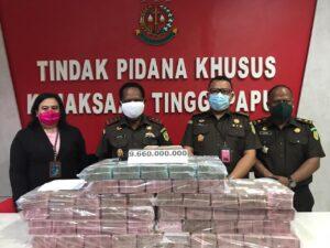 PT Graha Persada Kembalikan Kerugian Negara Senilai Rp.9,6 Milyar ke Kejati Papua