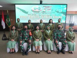 Persit KCK PD XVIII/Kasuari Ikuti Syukuran HUT Ke-75 Persit KCK Secara Virtual