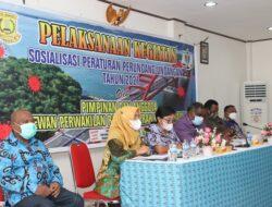 DPRD – Pemkota Jayapura Sosialisasikan Perda Normal Baru dan Adminduk di Jayapura Utara